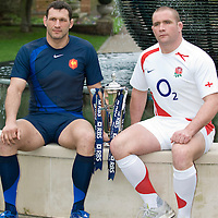 RBS Six Nations rugby launch, London, Britain - 23 Jan 2008.Subhead: Simon Webster (Scotland), Phil Vickery (England), Sergio Parisse (Italy), Lionel Nallet (France), Ryan Jones (Wales) and Brian O'Driscoll (Ireland) pose with the trophy