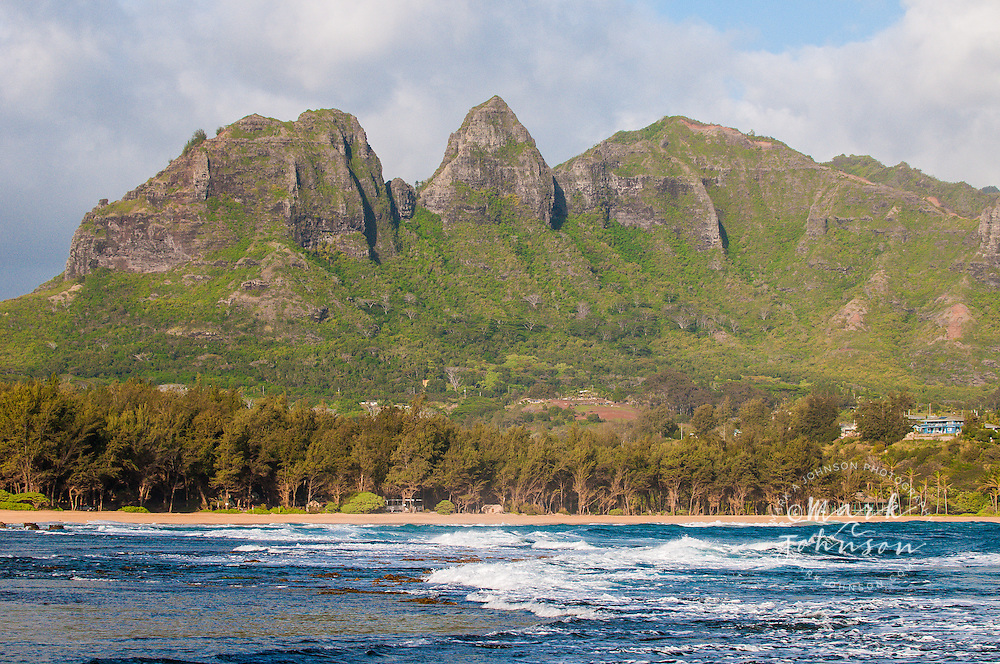 Anahola Bay & Mountains, Kauai, Hawaii