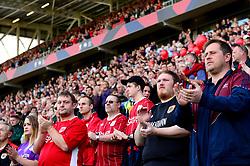Bristol City fans take part in a minutes applause  - Mandatory by-line: Dougie Allward/JMP - 19/08/2017 - FOOTBALL - Ashton Gate Stadium - Bristol, England - Bristol City v Millwall - Sky Bet Championship