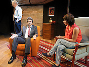 Danger: Memory!<br /> byArthur Miller<br /> at The Jermyn Street Theatre, London, Great Britain <br /> press photocall<br /> 29th June 2011 <br /> <br /> Rolf Saxon<br /> Laura Pyper<br /> Roger Sloman <br /> <br /> directed by Ed Viney <br /> <br /> <br /> Photograph by Elliott Franks