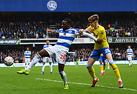 Football - 2018 / 2019 FA Cup - Third Round: Queens Park Rangers vs. Leeds United<br /> <br /> Queens Park Rangers' Bright Osayi-Samuel holds off the challenge from Leeds United's Tom Pearce, at Loftus Road.<br /> <br /> COLORSPORT/ASHLEY WESTERN