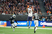 Allen Robinson II (WR) of the Chicago Bears catches a pass by Chase Daniel (QB) of the Chicago Bears during the International Series match between Oakland Raiders and Chicago Bears at Tottenham Hotspur Stadium, London, United Kingdom on 6 October 2019.