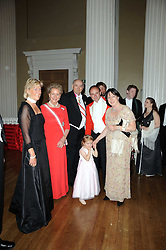 Left to right, PRINCESS OLGA OF RUSSIA, PRINCESS DIMITRI OF RUSSIA, PRINCE DIMITRI OF RUSSIA, SIMON & DEBORAH GURNEY with their daughter EMILY at the 13th annual Russian Summer Ball held at the Banqueting House, Whitehall, London on 14th June 2008.<br />
