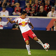 Tim Cahill, New York Red Bulls, in action during the New York Red Bulls Vs Seattle Sounders, Major League Soccer regular season match at Red Bull Arena, Harrison, New Jersey. USA. 20th September 2014. Photo Tim Clayton