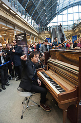 Jamie Cullum during a promo pop up concert for the release of his new album Momentum, St Pancras International station, London, UK, May 21, 2013. Photo by:  i-Images