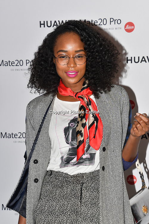 Annaliese Dayes attend Huawei - VIP celebration at One Marylebone London, UK. 16 October 2018.