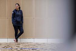 28-12-2017 NED: Open training BTN, Den Haag<br /> Beach team Nederland gaf de laatste open training van het jaar / Coach Angie Akers