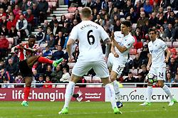 Jermain Defoe of Sunderland shoots at goal - Mandatory by-line: Robbie Stephenson/JMP - 13/05/2017 - FOOTBALL - Stadium of Light - Sunderland, England - Sunderland v Swansea City - Premier League