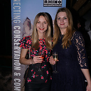 Save the Rhino fundraising team at the Hornï Underwear for London Launch Party to support global rhino conservation fundraising on 8 Feb 2018 at Cuckoo Club in London, UK.