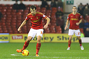 Nottingham Forest midfielder Robert Tesche wins the ball in midfield during the Sky Bet Championship match between Nottingham Forest and Queens Park Rangers at the City Ground, Nottingham, England on 26 January 2016. Photo by Aaron Lupton.