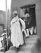 Chief and Two Policemen, Kano, Nigeria, Africa, 1937