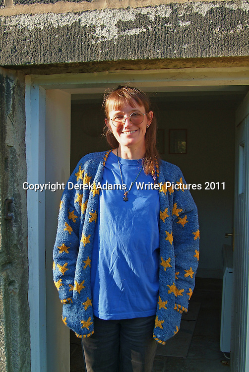 Katrina Porteous, Scottish poet, historian and broadcaster, photographed at Lumb Bank, Heptonstall, Hebden Bridge, West Yorkshire, August 12, 2005. Copyright Derek Adams / Writer Pictures. Contact +44 (0)20 822 41564 info@writerpictures.com www.writerpictures.com.