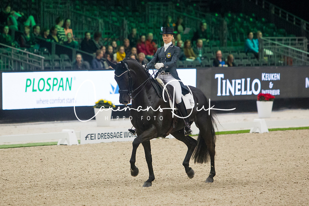 Ramel Antonia, SWE, Brother de Jeu<br /> FEI Dressage World Cup™ Grand Prix presented by RS2 Dressage - The Dutch Masters<br /> © Hippo Foto - Sharon Vandeput<br /> 14/03/19
