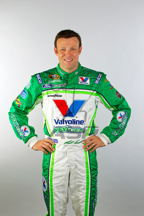 Concord, NC - November 08, 2011:  NASCAR Sprint Cup Champion, Matt Kenseth, in his Valvoline NextGen uniform at the Roush Fenway Racing complex in Concord, NC.