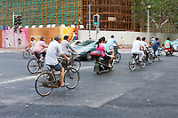 cyclists in Shanghai China