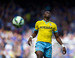 LONDON, ENGLAND - Sunday, May 3, 2015: Crystal Palace's Yannick Bolasie in action against Chelsea during the Premier League match at Stamford Bridge. (Pic by David Rawcliffe/Propaganda)