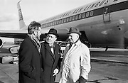 3/11/1967<br /> 11/3/1967<br /> 3 November 1967<br /> <br /> Micheál Mac Liammóir and Mr Hilton Edwards leaving for America to put on a season of one man shows Also pictured is Mr. Brian Tobin
