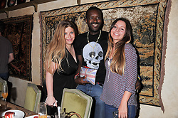 Left to right, NATASHA LEITH-SMITH, ORLANDO HAMILTON and ALICE GILLSEND at an afternoon tea party in aid of the Naked Heart Foundation held at Mari Vanna, Wellington Court, 116 Knightsbridge, London on 29th August 2012.