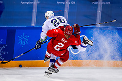 16-02-2018 KOR: Olympic Games day 7, PyeongChang<br /> Ice Hockey Russia (OAR) - Slovenia / forward Jan Urbas #26 of Slovenia, defenseman Artyom Zub #2 of Olympic Athlete from Russia