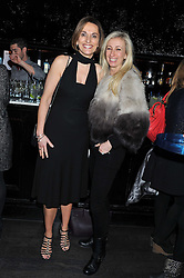 Left to right, JACKIE NEWCOMBE MD of IPC Southbank and JENNY HALPERN-PRINCE at a party to celebrate the launch of the Marie Claire Runway Magazine held at Le Baron a The Embassy, Old Burlington Street, London on 1st February 2012.