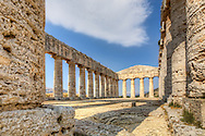 Photo of the Doric temple at Segesta, Sicily, Italy