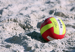 Ball at qualifications for 14th National Championship of Slovenia in Beach Volleyball and also 4th tournament of series TUSMOBIL LG presented by Nestea, on July 25, 2008, in Kranj, Slovenija. (Photo by Vid Ponikvar / Sportal Images)/ Sportida)