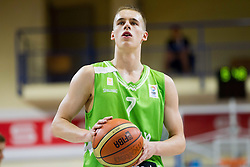 Klemen Prepelic of Slovenia during basketball match between National teams of Latvia and Slovenia in Qualifying Round of U20 Men European Championship Slovenia 2012, on July 16, 2012 in Domzale, Slovenia. Slovenia defeated Latvia 69-62. (Photo by Vid Ponikvar / Sportida.com)