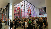 Photokina in Cologne ist the World's biggest bi-annual photo fair. Masses of visitors storm the main entrance on opening day.
