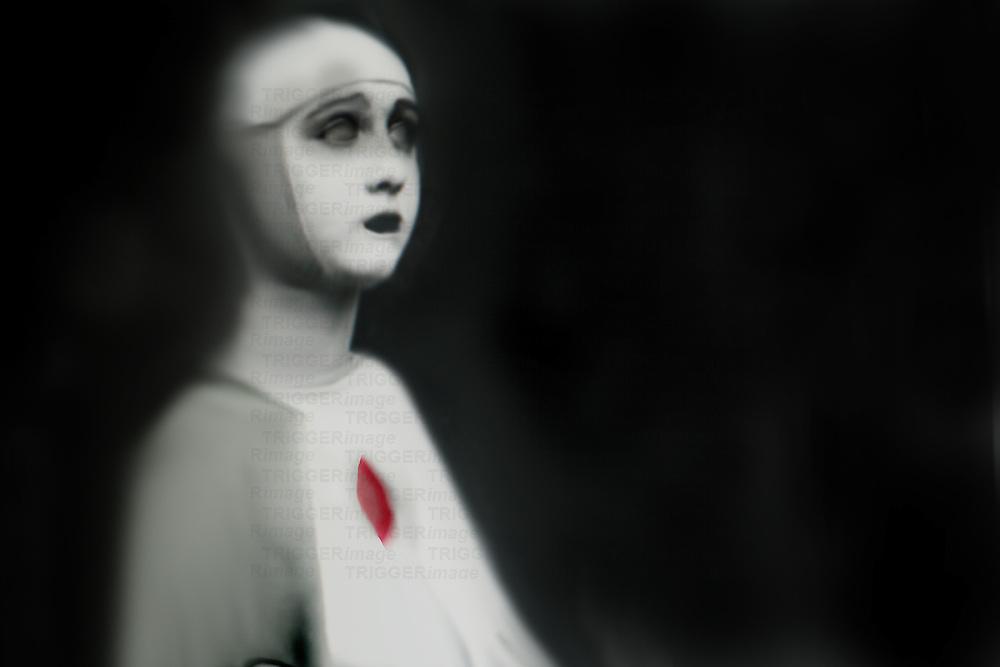 A woman wearing a nuns habit
