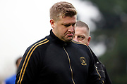 Charlton Athletic manager Karl Robinson walking off the pitch during the The FA Cup match between AFC Wimbledon and Charlton Athletic at the Cherry Red Records Stadium, Kingston, England on 3 December 2017. Photo by Matthew Redman.