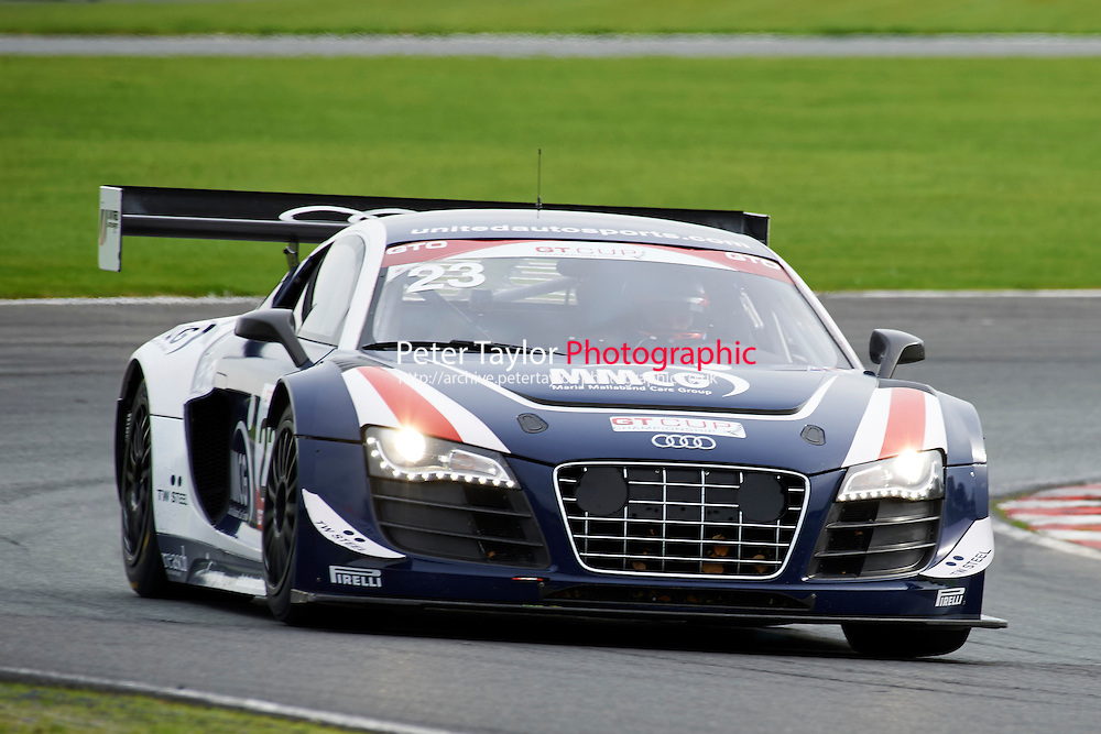#23 Phil BURGAN Audi R8 LMS Ultra during GT Cup - Race 1 as part of the MSVR Oulton Park 10th October 2015 at Oulton Park, Little Budworth, Cheshire, United Kingdom. October 10 2015. World Copyright Taylor/PSP. Copy of publication required for printed pictures.  Every used picture is fee-liable. http://archive.petertaylor-photographic.co.uk
