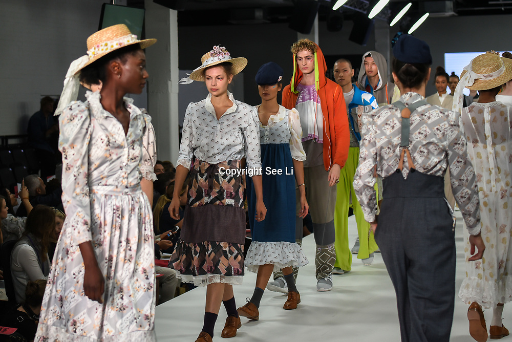 Northampton University showcases it lastest collection at the Graduate Fashion Week 2018, 4 June 4 2018 at Truman Brewery, London, UK.