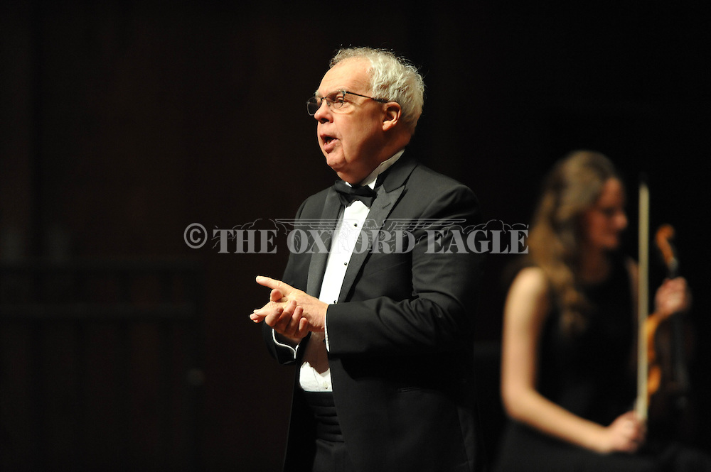 Ron Vernon directs the LOU Symphony plays at the Ford Center in Oxford, Miss. on Monday, February 9, 2015.