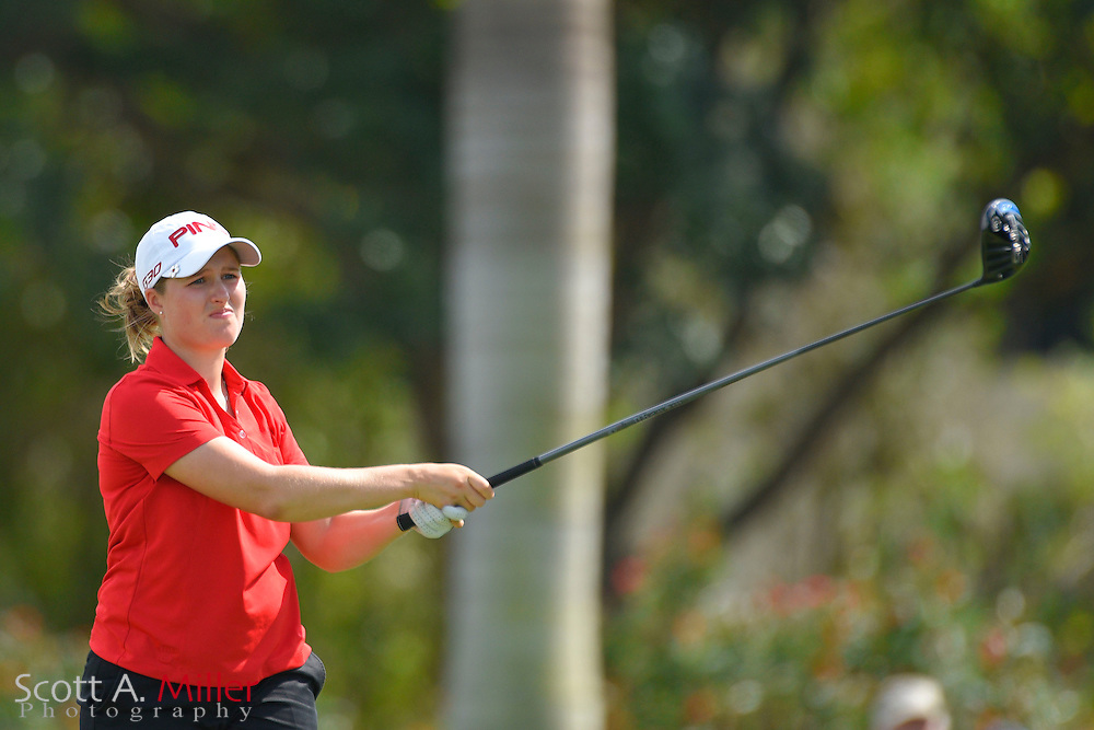 Augusta James during the final round of the Chico's Patty Berg Memorial on April 19, 2015 in Fort Myers, Florida. The tournament feature golfers from both the Symetra and Legends Tours.<br /> <br /> &copy;2015 Scott A. Miller