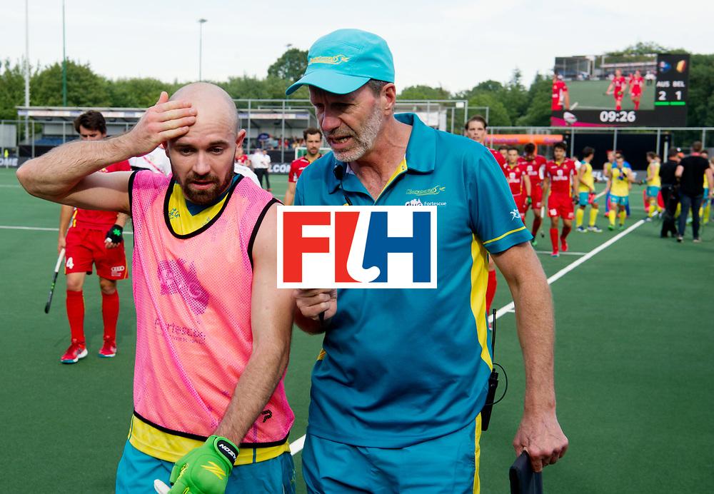 BREDA - Rabobank Hockey Champions Trophy<br /> Australia - Belgium <br /> Photo: Matthew Swann and his assistant coach.<br /> COPYRIGHT WORLDSPORTPICS FRANK UIJLENBROEK
