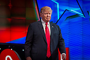 Presidential hopeful Donald Trump before the CNN Republican Presidential Debate at the Venetian Hotel and Casino in Las Vegas.