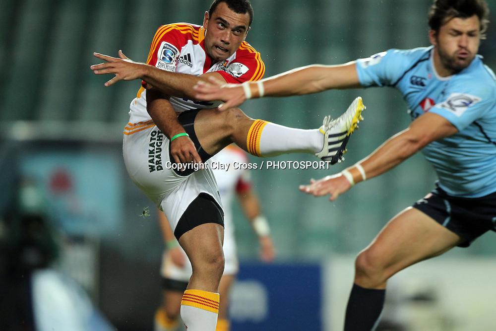 Richard Kahui. Waratahs v Chiefs. 2013 Investec Super Rugby Season. Allianz Stadium, Sydney. Friday 19 April 2013. Photo: Clay Cross / photosport.co.nz