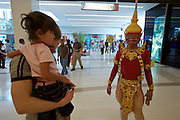 "Siam Paragon shopping center. Foreign visitors with a ""Thai demon""."