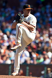 May 30, 2010; San Francisco, CA, USA;  San Francisco Giants relief pitcher Brian Wilson (38) pitches against the Arizona Diamondbacks during the tenth inning at AT&T Park.  San Francisco defeated Arizona 6-5 in 10 innings.