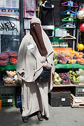 "© under licence to London News Pictures. LONDON, 21/05/2011. Portrait of KENZA DRIDER, the French woman who recently defied the Niqab, full veil, ban in France.  She was arrested by the French Police for refusing to take off her full veil in public. Appearing at conference ""Confronting Anti-Muslim Hatred in Britain and Europe. London Muslim Centre. Photo credit should read BETTINA STRENSKE/LNP"