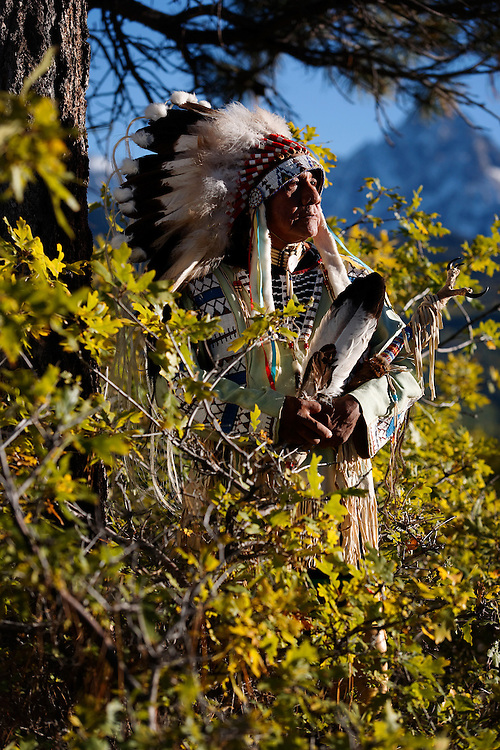 Native American advocate Roland McCook in Ouray County, Colo.