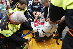 May 18, 2018 - Berlin, Germany - Formula e Berlin ePrix: The photo shows the racing driver Lucas di Grassi during a medical exercise in case of emergency. (Credit Image: © Simone Kuhlmey/Pacific Press via ZUMA Wire)