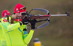 Jakov Fak during practice session of Slovenian biathlon team before new winter season 2012/13 on November 19, 2012 in Rudno polje, Pokljuka, Slovenia. (Photo By Vid Ponikvar / Sportida)
