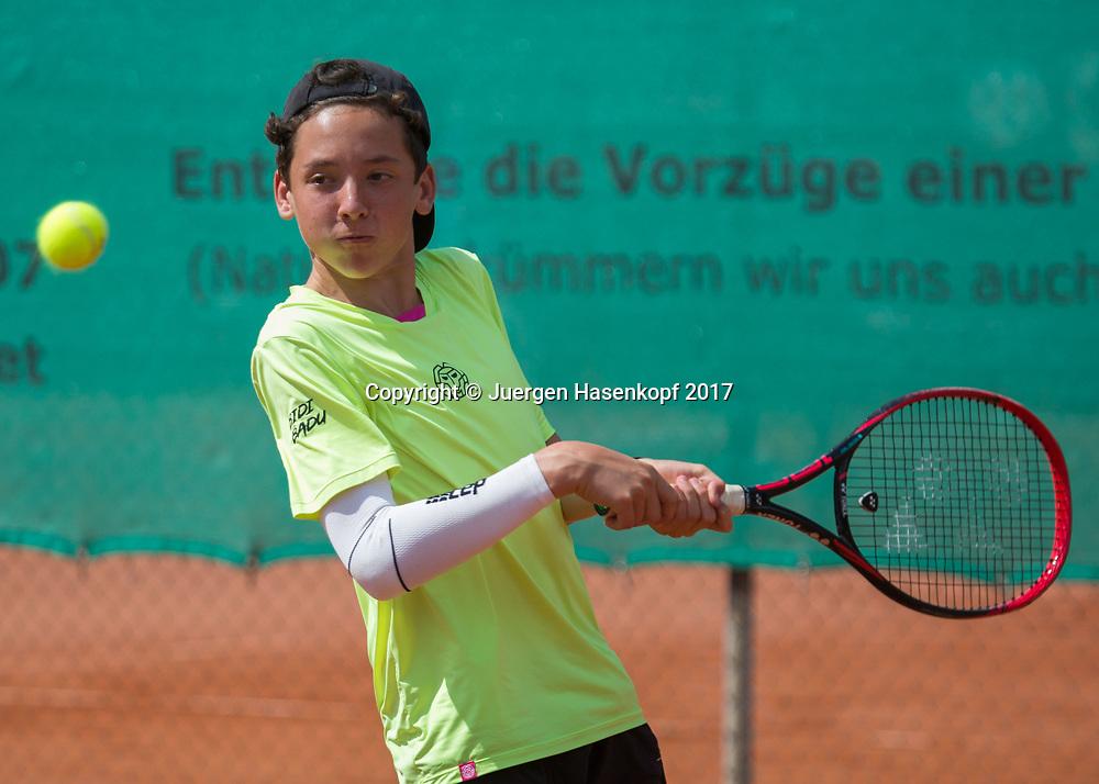 MAX REHBERG (GER), Bavarian Junior Open 2017, Tennis Europe Junior Tour, BS14<br /> <br /> Tennis - Bavarian Junior Open 2017 - Tennis Europe Junior Tour -  SC Eching - Eching - Bayern - Germany  - 9 August 2017. <br /> &copy; Juergen Hasenkopf