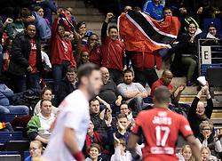 BERLIN - Indoor Hockey World Cup<br /> Men: Poland - Trinidad &amp; Tobago<br /> foto: Trinidad fans.<br /> WORLDSPORTPICS COPYRIGHT FRANK UIJLENBROEK