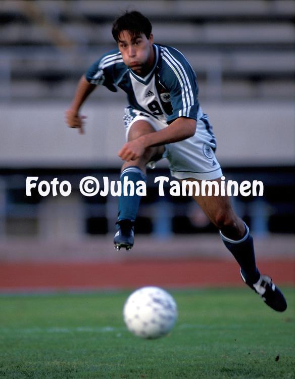 03.09.1999, Lahti, Finland. .UEFA under-21 European Championship qualifying match, Finland v Germany. .Marco Reich - GER U-21.©JUHA TAMMINEN