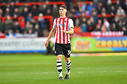Alex Hartridge (34) of Exeter City during the EFL Sky Bet League 2 match between Exeter City and Grimsby Town FC at St James' Park, Exeter, England on 29 December 2018.