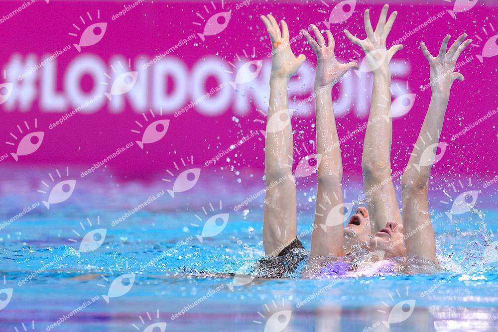 MALTSEV Aleksandr KALANCHA Mikhaela RUS RUSSIA Gold Medal <br /> Mixed Duet Final <br /> London, Queen Elizabeth II Olympic Park Pool <br /> LEN 2016 European Aquatics Elite Championships <br /> Synchronized Swimming <br /> Day 05 13-05-2016<br /> Photo Andrea Staccioli/Deepbluemedia/Insidefoto