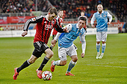 02.03.2015, Audi Sportpark, Ingolstadt, GER, 2. FBL, FC Ingolstadt 04 vs TSV 1860 M&uuml;nchen, 23. Runde, im Bild Pascal Gross (FC Ingolstadt), Maximilian Wittek (TSV 1860 Muenchen), v.li. Aktion // during the 2nd German Bundesliga 23rd round match between FC Ingolstadt 04 and TSV 1860 M&uuml;nchen at the Audi Sportpark in Ingolstadt, Germany on 2015/03/02. EXPA Pictures &copy; 2015, PhotoCredit: EXPA/ Eibner-Pressefoto/ Buthmann<br /> <br /> *****ATTENTION - OUT of GER*****
