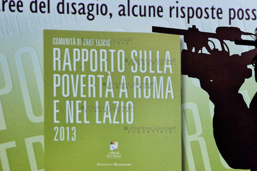 Roma 13 Febbraio 2014<br /> Presentato  il Rapporto sulla povertà a Roma e nel Lazio 2013 a cura della Comunità di Sant'Egidio